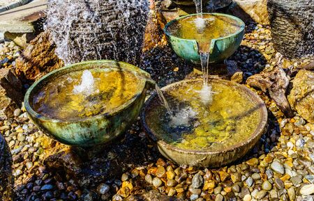 Stone water fountain, Garden Water Bowls decoration feng shui.