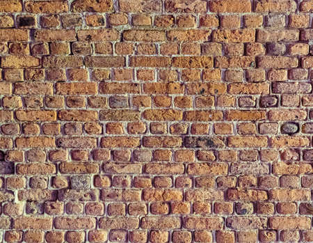 Old brick colored brick masonry whith european natural cement background textures from Fort Zachary Taylor Fortress.