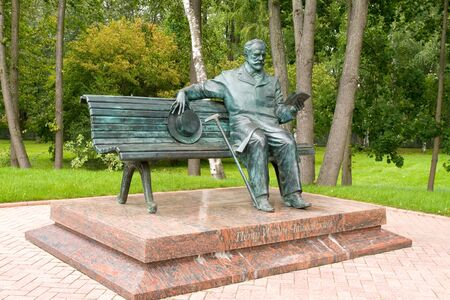 russian federation: Monument to composer Tchaikovsky in the town of Klin, Russian Federation