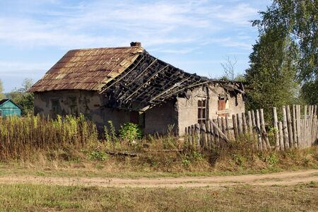 ruined: old ruined farmhouse Stock Photo