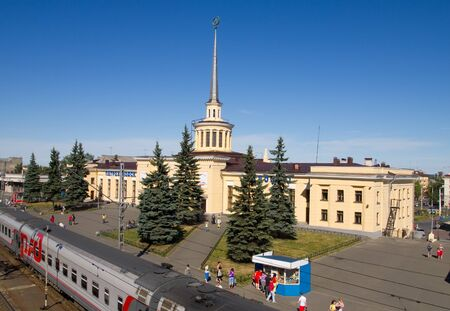 russian federation: Railway station in the city of Petrozavodsk, Russian federation Editorial