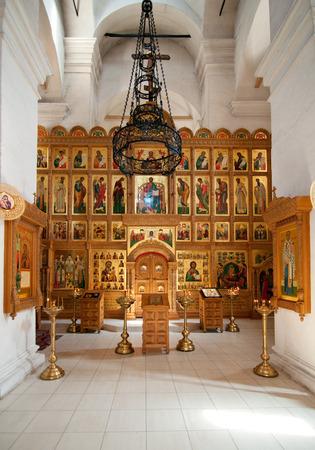 bible altar: Interior Vvedensky temple monastery Svyatouspenski