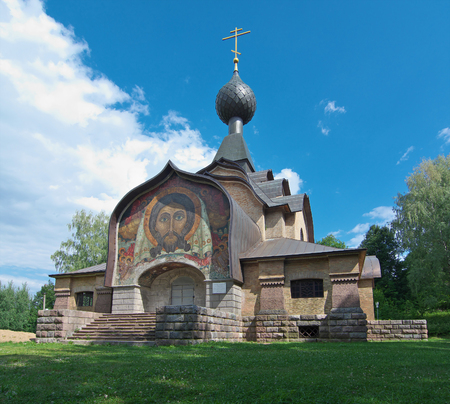 canonical: Talashkino, Russia - Jule 22, 2014, Building of the Temple of the Spirit in Talashkino Smolensk region