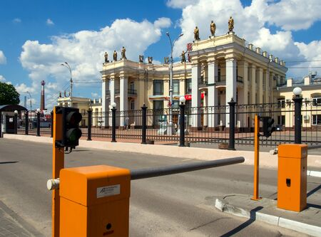 Voronezh, Russia - May 08, 2016, The entrance to the station square at the station Voronezh-1