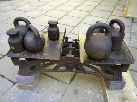 the ussr: Old scales and weights are in the times of the USSR