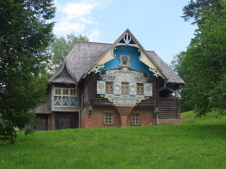 Flenovo, Russia - July 22, 2014: Historical and architectural complex Tower in Talashkino Smolensk region