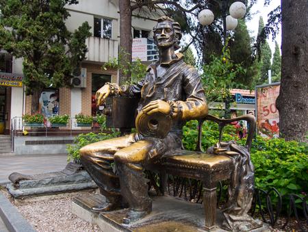 cinematographer: Yalta, Russia - November 08, 2015: Monument to the Russian filmmaker Alexander Khanzhonkov in Yalta, Crimea