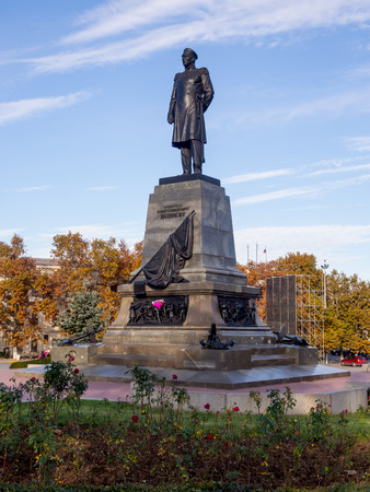 A monument to Admiral Nakhimov in Sevastopol, Crimea Editorial