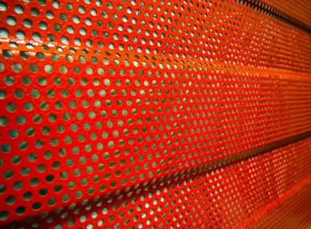 Fragment van geluidsbeschermingspaneel gebruikt om geluid te verminderen Stockfoto