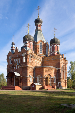 Jartcevo, Russia - August 02, 2010: The Church of the First-Great Apostles Peter and Paul