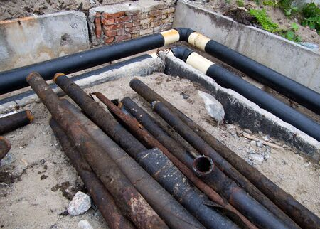 Replacement of old heating pipes with new ones