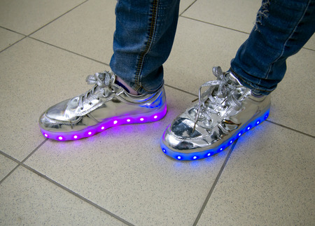 RGB LED backlight integrated into the sole of the sneaker