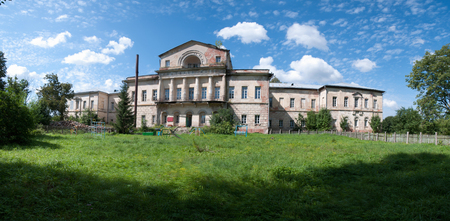Aleksino, Russia - August 24, 2011: Manor house of the Baryshnikov estate in the village of Aleksino Smolensk region