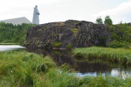 Geological monument of nature Baranial forehead near Lake Semenovskoe, Murmansk
