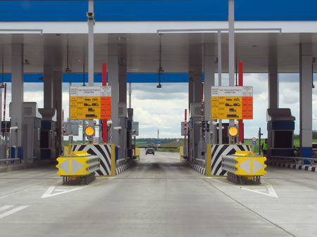 Voronezh, Russia - June 19, 2014: Point of payment for the toll road