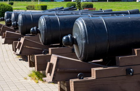 The back of the old ships guns