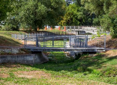 Bridges in the city park of Zadonsk