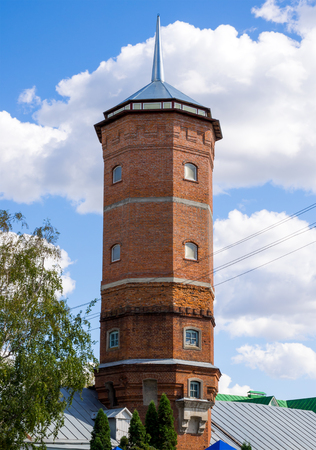 Water tower of Zadonsky monastery in the city of Zadonsk