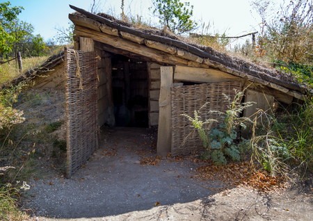 Semi-farmer with single-sided roof, archaeological park