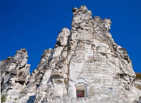 The rock in which the caveChurch of the Sicilian Icon of the Mother of God, Divnogorie, Voronezh