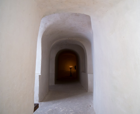 Tunnel for the procession of the cave church of the Nativity of John the Baptist Uspenskiy Monastery, Voronezh region