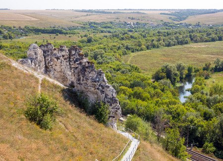 View from the top of the plateau of the Divnogorsky nature reserve