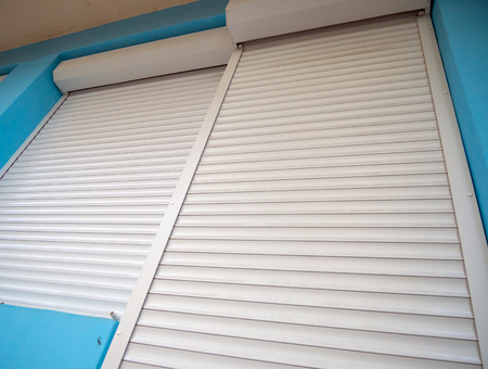 Protective roller shutters, closing windows and front door
