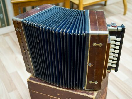 Russian accordion - an old national musical instrument