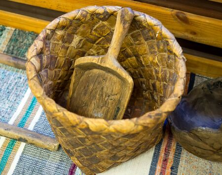 Komsha - an old wicker basket for flour