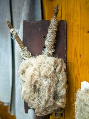 A combed wool, tow cooked for spinning