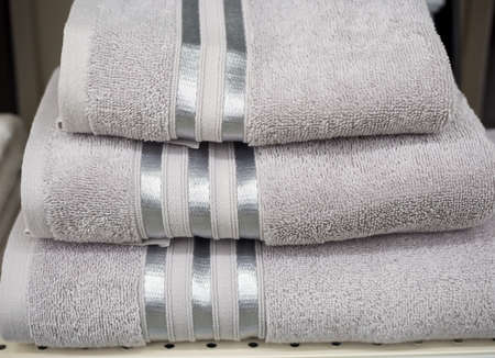 Set of three different size terry towels