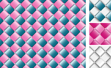 Wicker texture made with colorful shining ribbons Vector