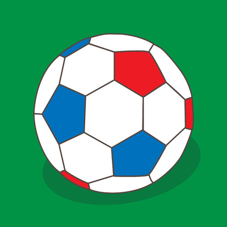 europian: Vector soccer background for europian championship, with ball isolated illustration for football tournament. sing football vector object on green background, vector illustration desing, sport symbol