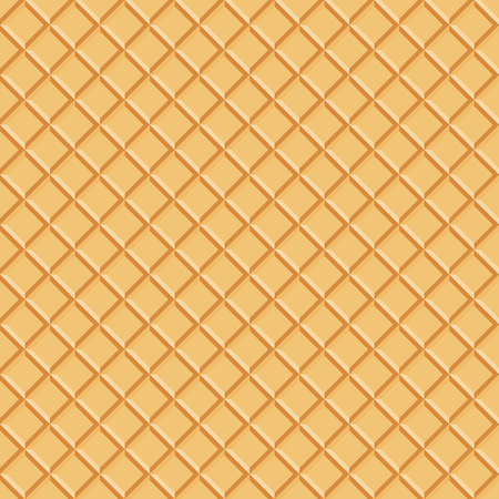 Seamless wafer pattern, vector background,  Abstract Vector Illustration. Delicious Food Background.