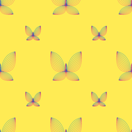 geometric butterfly seamless pattern. Fashion graphic. Background design. Modern stylish abstract texture. Template for prints, textile, wrapping and decoration, wallpaper. Vector illustration.