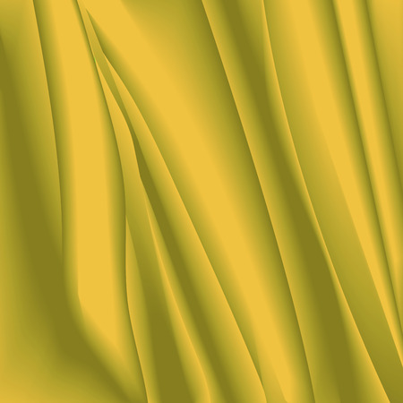 crumpled tissue: abstract background with delicate texture in yellow and brown colors. Desert effect, organza texture in the form of crumpled tissue. waves background. Abstract gold background with smooth lines