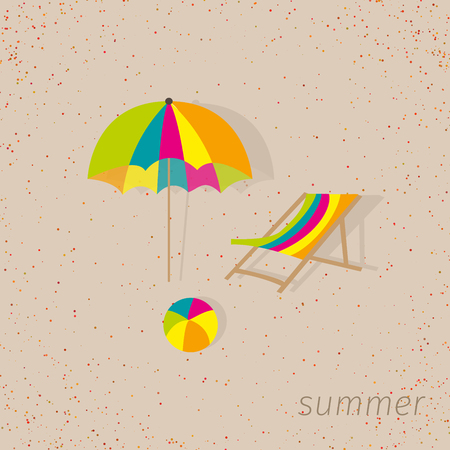 sandal tree: sign pattern with beach accessories. Vector of summer element objects decoration into sign pattern.Wallpaper,gift wrapping,fabric pattern background on the sand texture