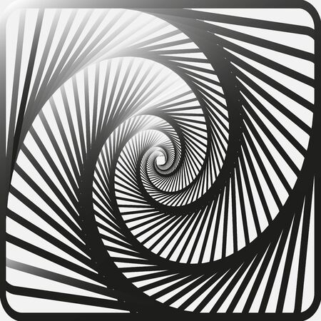 blended: Abstract spiral, vortex effects with concentric shapes blended inward. Graphic design.Vector illustration. Background design. Optical illusion. Modern stylish. Swirling,rotating lines artistic graphic Illustration