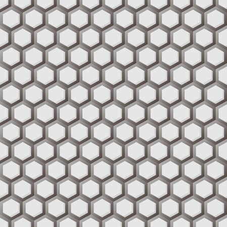 hex: Hexagonal grid seamless pattern.Graphic design.Vector illustration with gradient on white background.Template for style design and print. Modern stylish abstract texture.Good for Technology Businesses Illustration