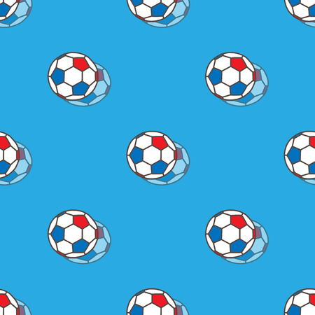 Vector football background for championship, with ball isolated illustration for football tournament. Seamless soccer pattern. Vector geometric.