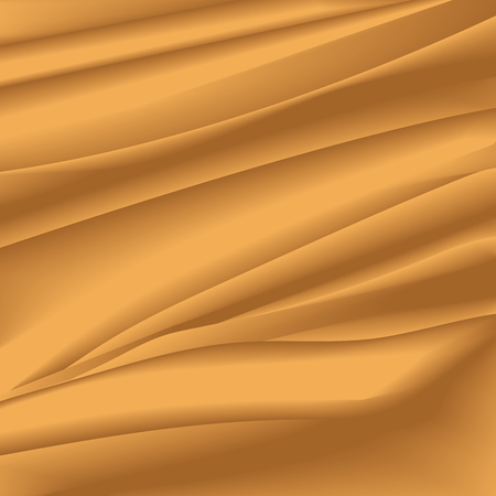 crumpled tissue: abstract background with delicate texture in beige and brown colors. Desert effect, organza texture in the form of crumpled tissue. waves background. Abstract gold background with smooth lines Illustration