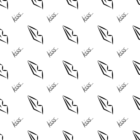 vogue style: sexy lips geometric seamless pattern with letters. Vector illustration. Fashion graphics . Background design. Glamour fashion abstract texture in vogue style, packaging and decoration, wallpaper. Illustration