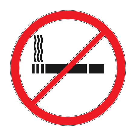Forbidding vector signs No smoking. Cigarette outline and linear pictogram isolated on white. Cigarette icon. Smoking sign. Tobacco symbol. Thin line icon on white background. Vector illustration.