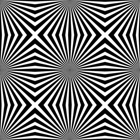 ray effect seamless pattern. Vector background. Black rays on white background. Vector graphic.