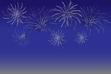 Fireworks - abstract holiday background. Symbol of celebration. Vector illustration. Holiday fireworks on dark background. Good for new year card and decoration.