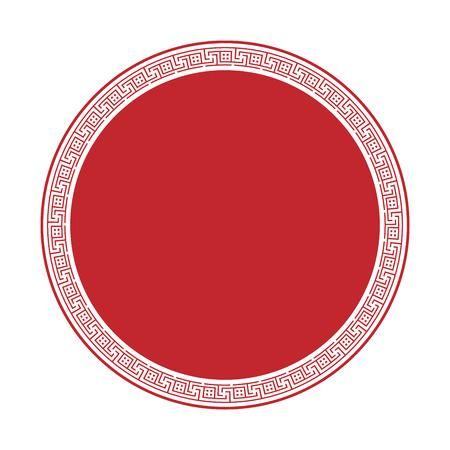 stile greco ornamentale cornice decorativa isolato. Ornamento greco. Vector cornice antica confezione. modelli di elemento di decorazione nei colori rossi e bianchi. collezioni etniche. illustrazioni vettoriali.