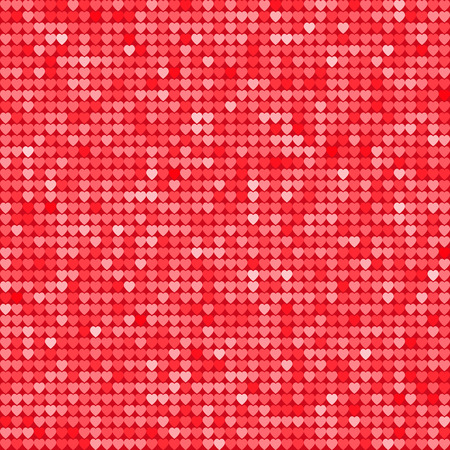Seamless Pattern Background With Red Glitter Hearts Vector Illustration Love Concept Cute Wallpaper