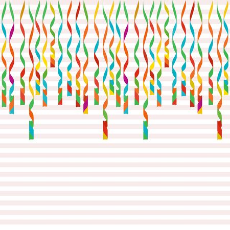 Serpentine isolated on background. Colorful ribbons. Vector Illustration. Falling swirl decoration for party, birthday celebrate, anniversary or event, festive. Illustration