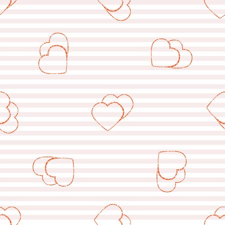 love wallpaper: Abstract Valentines Day hearts. Seamless background for your design. Vector illustration. Love concept. Cute wallpaper. Good idea for your Wedding,