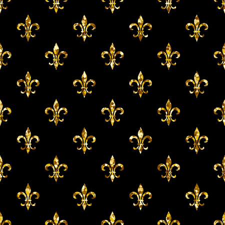 fleur-de-lis seamless pattern. Ols style template. Floral classic texture. Fleur de lis royal lily retro background. Design vintage for card, wallpaper, wrapping, textile. 矢量图像